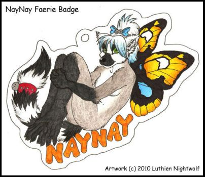 Naynay faerie badge by LuthienNightwolf