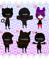 PRICE DROP ** Adoptables [ O P E N 1/6 ] by ani-kii