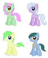 Foals for Casey-the-unicorn by vega37