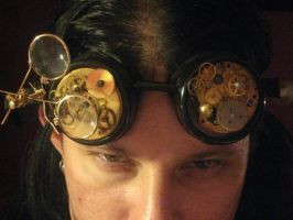 New Steampunk Goggles by taintedscars