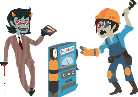 TF2Stuck Terezi and Sollux by MarshmallowInvader