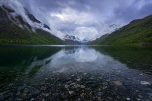 Briksdalsbreen Dawn by Dave-Derbis