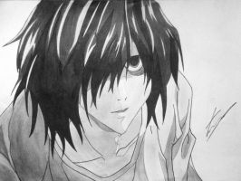 Request - L - Death Note by EckoSlime