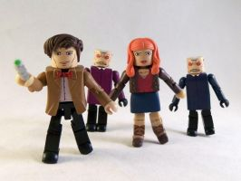 Custom Doctor Who Minimates by luke314pi