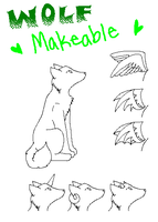 Free Wolf Makeable by KenshiTora