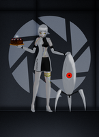 GLaDOS - Want some cake? by flashkunfighter