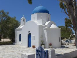 Small Church on Paros by bobswin