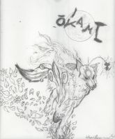 Amaterasu Drawing Done in College by Hotfeet444
