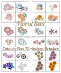 FREE FLORAL SETS Photoshop Brushes plus Cutouts by ibjennyjenny