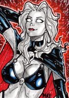 Lady Death sketch card by inARTia