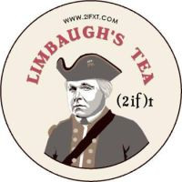 Limbaugh's Tea button by Conservatoons