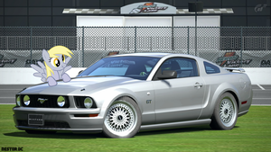 Derpy and her Mustang GT by nestordc