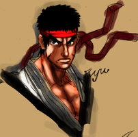street fighter Ryu color by cvsnb