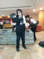 Ciel and Sebastian at Ahn!Con 2014 by CosplayCrazyProducti