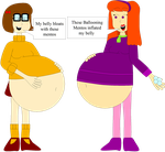 Velma and Daphne's Ballooning Mentos inflation by Angry-Signs
