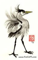 Heron Stance by Foxfeather248