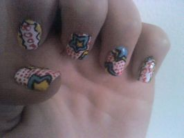 Pop-Art Nail Design by Experimently-Bernsie
