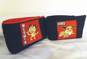 For Sale:Pokemon zippered pouches by CL-Pinkskull