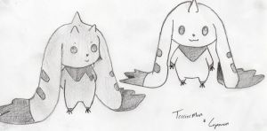 Lopmon + Terriermon by Digi-Lover517