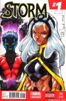 Storm and Nightcrawler by ToddNauck