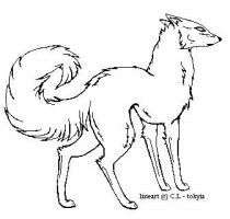 Wolf Lineart by tokyia