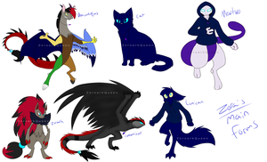.:Zora's Main Forms:. by ZoroarkQueen