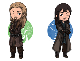 The Hobbit: Fili and Kili by Angels-Leaf