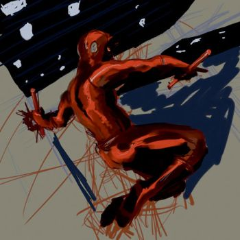 Painter Daredevil WIP by aestheticartist