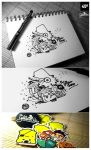 _042: Yellow Dino by hatefuel