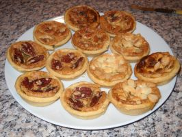 Almond, Pecan and Walnut Butter Tarts by Bisected8