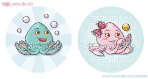 Commission - Kraki Buttons by yumkeks