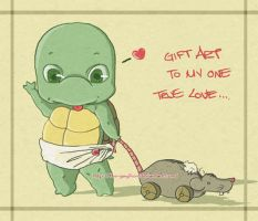 Gift Art - TMNT Toddler Raph by The-Gwyllion