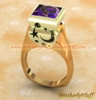 3D Moon and stars ring by BrotherlyFluff