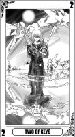 KH Tarot: Two of Keys(lineart) by way2thedawn