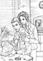 Dojima and Adachi by Autumn-Sacura