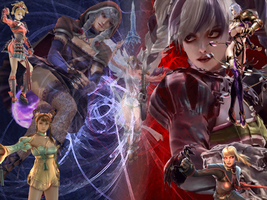 Soul Calibur V girls wallpaper by HystericDesigns