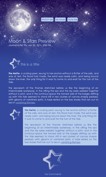 FREE Moon + Stars Journal Skin by moonfreak