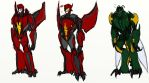 Prime redesigns - Terrorsaur and Waspinator by rabbitzoro