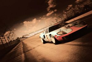 GT40 at SuperSpeedWay Indy by karbonkirby