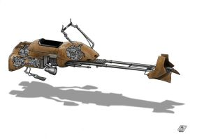 W.i.P. Star Wars Speeder Bike by Paul-Muad-Dib