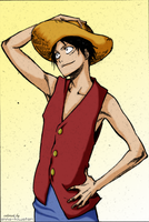 Luffy by Kubo Tite, coloring challenge by AnnaHiwatari