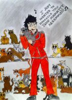 Crazy cat man Bellamy by CarnageWolff