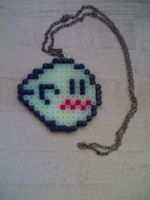 Boo perler beads by JohnnyAre