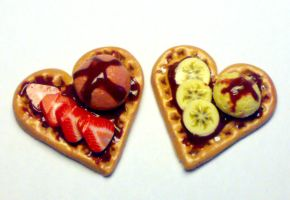 waffles made with fimo by sississweets