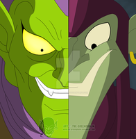 Spider-Man -  old and new Green Goblin by The-GreenGoblin