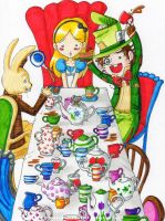 Alice Project:Tea Party by PrincessBlackRabbit