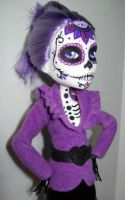 Day of the Dead Monster high Spectra by AdeCiroDesigns
