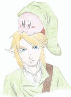 Kirby and Link colored version by starnova63