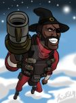 TF2: Spize's commission, 'Scottish Space Program' by Nicolas-SW