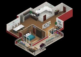 Isometric Apartment Day by VuBui91
